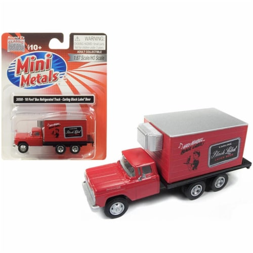 1960 Ford Box (Reefer) Refrigerated Truck \Carling Black Label Beer\ Red Model Perspective: front