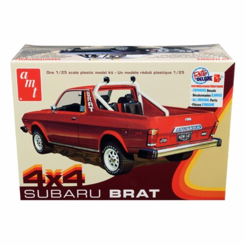 Skill 2 Model Kit 1978 Subaru BRAT 4x4 Pickup Truck 1/25 Scale Model by AMT Perspective: front