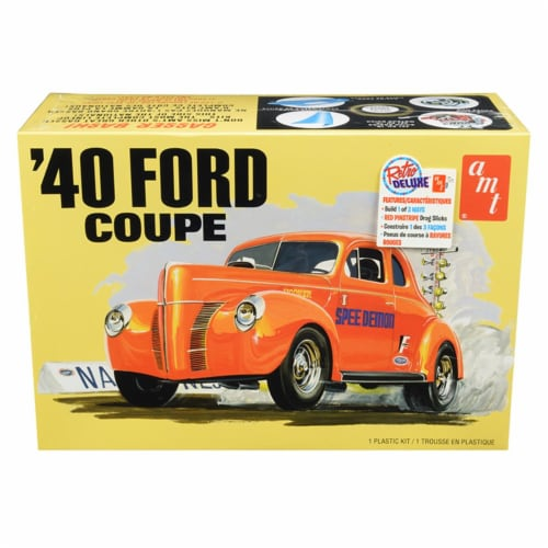 Skill 2 Model Kit 1940 Ford Coupe 3 in 1 Kit 1/25 Scale Model by AMT Perspective: front