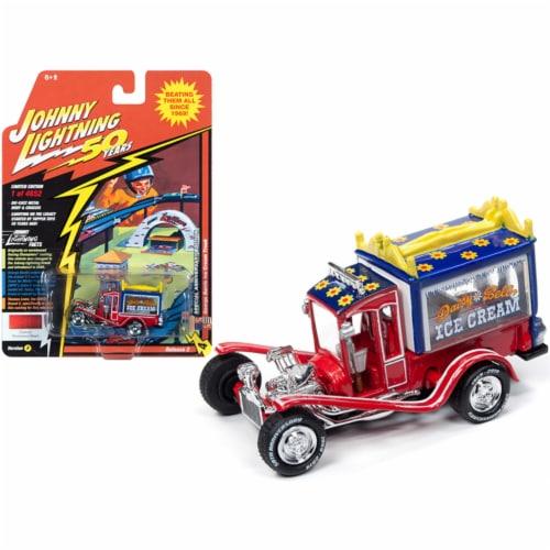 Johnny Lightning JLCG020-JLSP075A George Barris Ice Cream Truck Daisy Bell Custom Persimmon R Perspective: front