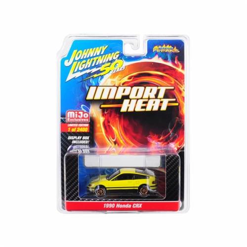1990 Honda CRX Yellow\Street Freaks\\ Johnny Lightning 50th Anniversary\ Perspective: front
