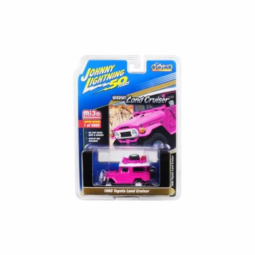 Johnny Lightning JLCP7208 1980 Toyota Land Cruiser with Accessories, Hot Pink - 4800 Piece Perspective: front