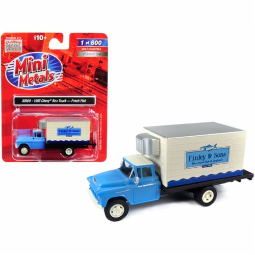 1955 Chevrolet Refrigerated Reefer Box Truck \Finley & Sons\ (Fresh Fish) Model Perspective: front