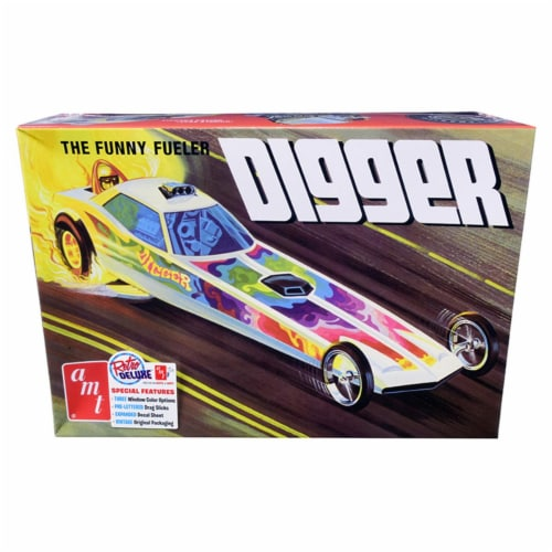 AMT AMT1154 Skill 2 Model Kit Digger Dragster The Funny Fueler 1 by 25 Scale Model Perspective: front