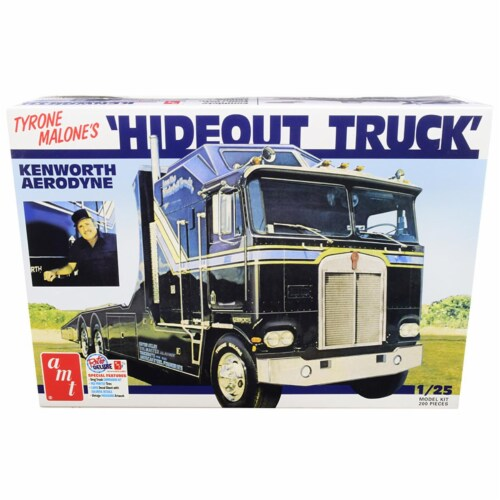 Skill 3 Model Kit Tyrone Malone\'s Kenworth Aerodyne \Hideout Truck\ 1/25 Scale Model by AMT Perspective: front