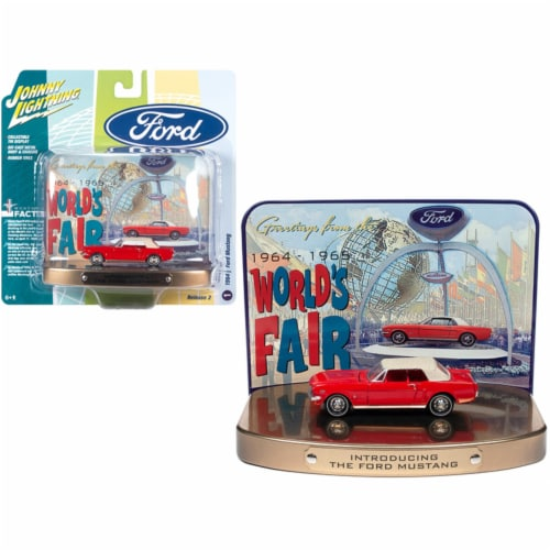Johnny Lightning JLDR012-JLSP081 1964 0.5 Ford Mustang Rangoon Red with Red Interior with Col Perspective: front