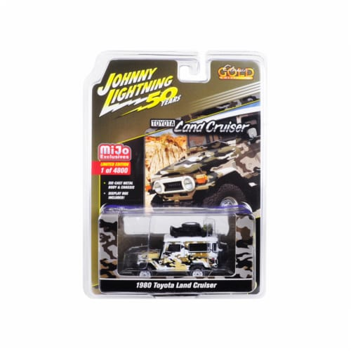 Johnny Lightning JLCP7246 1980 Toyota Land Cruiser Camouflage Car - 4800 Piece Perspective: front