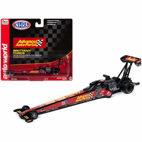 2019 NHRA TFD (Top Fuel Dragster) Brittany Force \Advance Auto Parts\ 1/64 Diecast Model Car Perspective: front