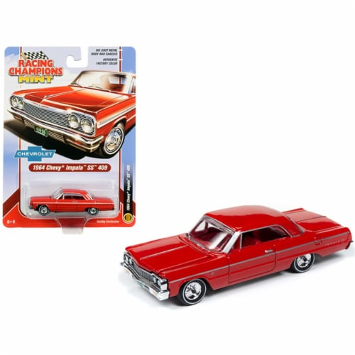 1964 Chevrolet Impala SS 409 Hardtop Riverside Red with Red Interior by Racing Champions Perspective: front