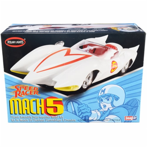 Skill 2 Snap Model Kit Speed Racer Mach 5 1/25 Scale Model by Polar Lights Perspective: front