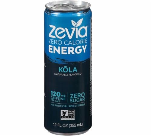 Zevia Zero Calorie Kola Energy Drink Perspective: front