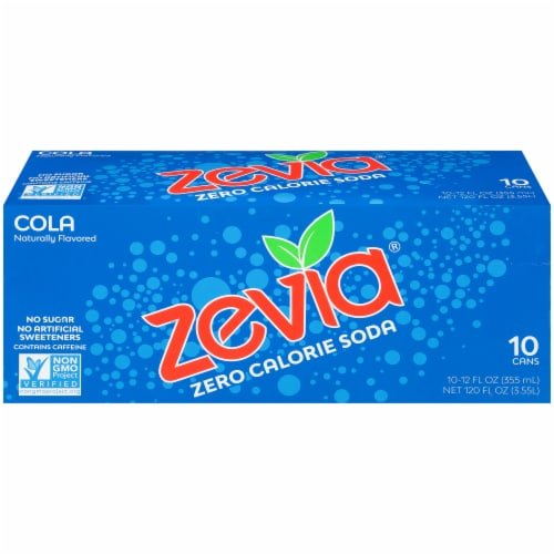 Zevia Cola Zero Calorie Soda Perspective: front