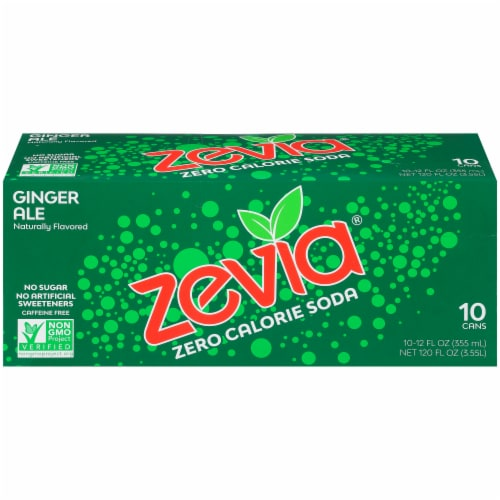 Zevia Ginger Ale Zero Calorie Soda Perspective: front