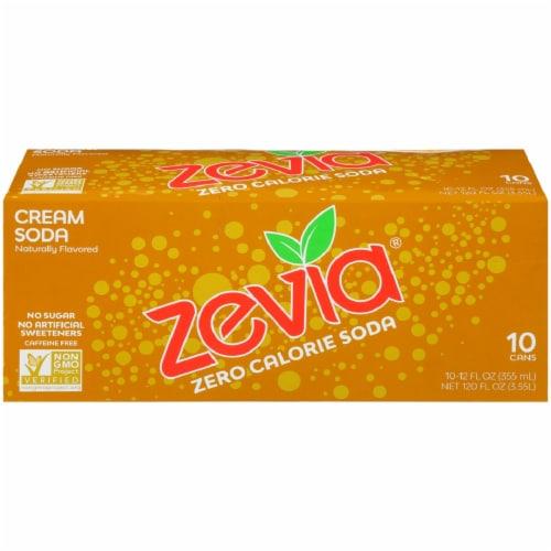 Zevia Cream Soda Zero Calorie Soda Perspective: front