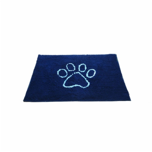Dog Gone Smart 855112 35 x 26 in. Dirty Dog Doormat, Bermuda Blue & Light Blue - Large Perspective: front