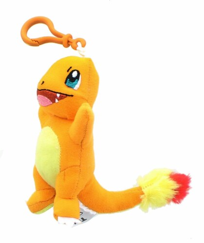 Pokemon 3 Inch Plush Clip On - Charmander Perspective: front
