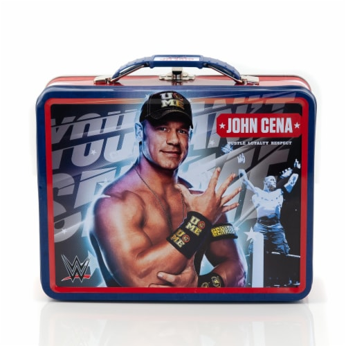 WWE Tin Lunch Box Featuring Superstar Wrestler John Cena Perspective: front