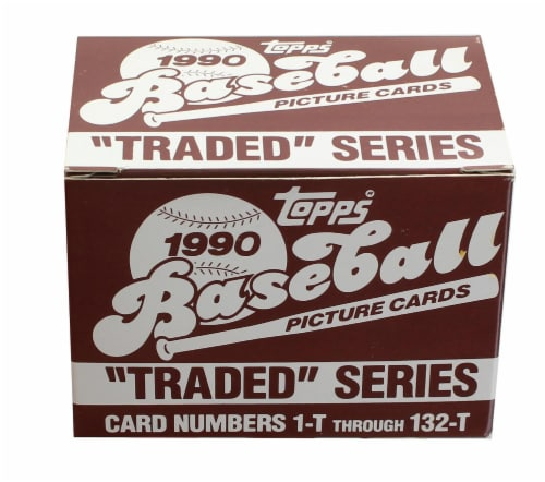 MLB 1990 Topps Baseball Traded Series | Set of 132 Cards Perspective: front