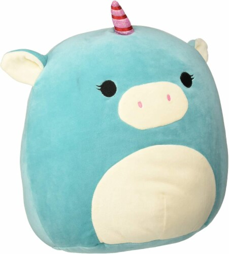 Squishmallow 8 Inch Plush | Turquoise Unicorn Perspective: front