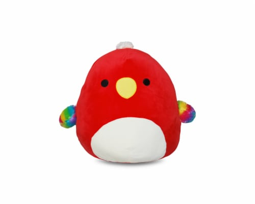 Squishmallow 8 Inch Plush | Paco the Red Parrot Perspective: front