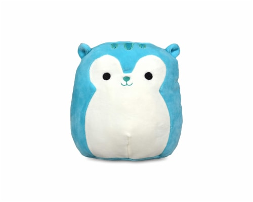 Squishmallow 8 Inch Plush | Santiago the Blue Squirrel Perspective: front