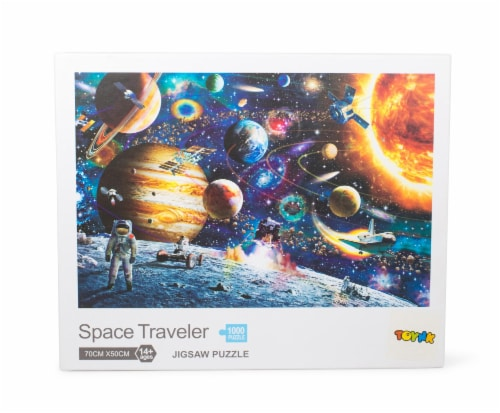 Space Traveler Space Puzzle 1000 Piece Jigsaw Puzzle | Jigsaw Puzzles For Adults Perspective: front