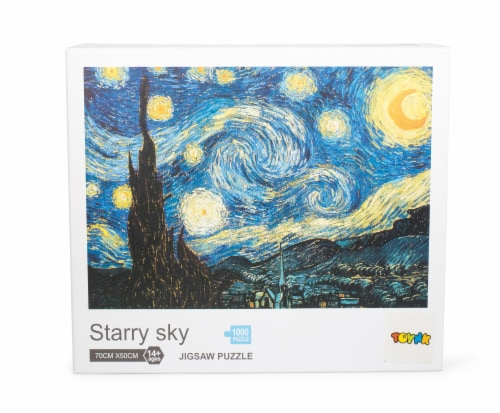 Starry Sky 1000-Piece Jigsaw Puzzle | Starry Night Puzzle 1000 | Van Gogh Puzzle Perspective: front