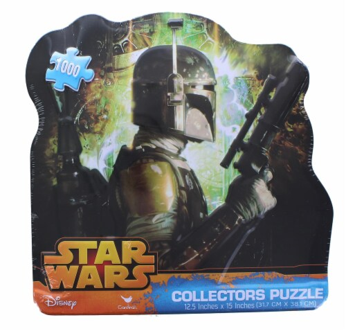 Star Wars 1000 Piece Collectors Tin Jigsaw Puzzle | Boba Fett Perspective: front