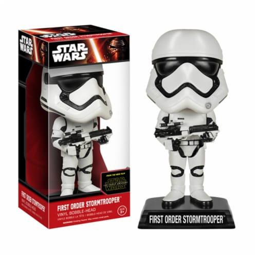 """Star Wars The Force Awakens 7"""" Bobble Head First Order Stormtrooper Perspective: front"""