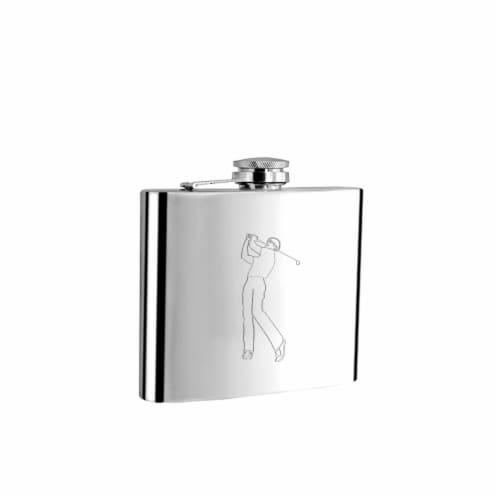 Visol 5002Golf1B225 Visol Golf Pro Golf me Liquor Flask - 6 oz Perspective: front