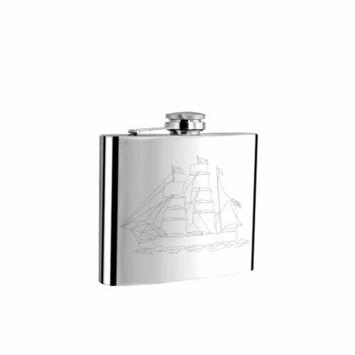 Visol 5002Sailing225 Visol Sail Sailing me Liquor Flask - 6 oz Perspective: front