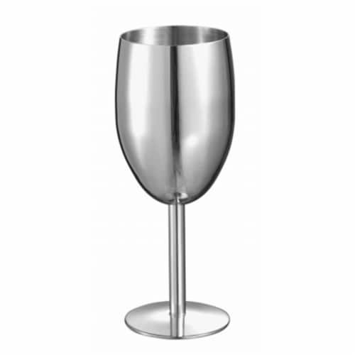 Visol VAC318 Visol Jacqueline Stainless Steel Champagne Glass Perspective: front