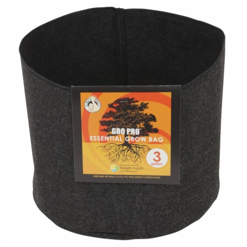 Gro Pro Essential Grow Bag 3 gal. - Case Of: 1 Perspective: front