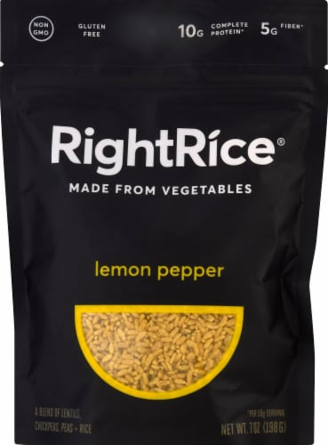 RightRice Lemon Pepper Vegetable Based Rice Perspective: front