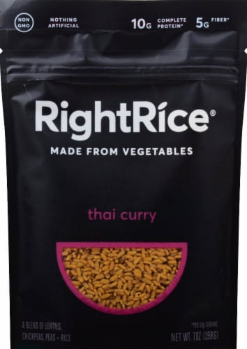 RightRice Thai Curry Vegetable Based Rice Perspective: front