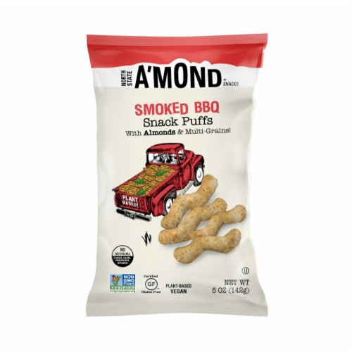 A'mond Smoked BBQ Almond Puffs Perspective: front