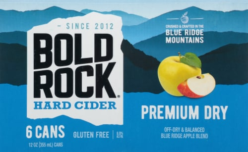Bold Rock Premium Dry Hard Cider Perspective: front