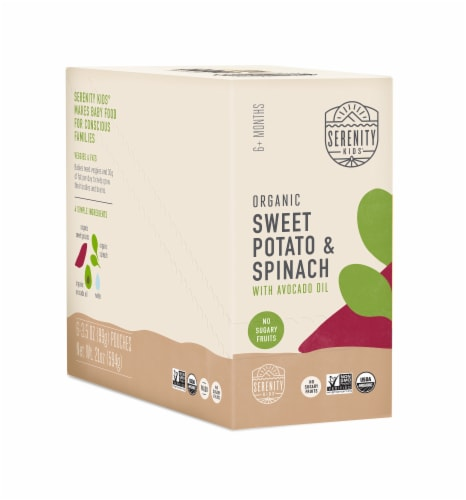 Serenity Kids Organic Sweet Potato & Spinach Baby Food Perspective: front