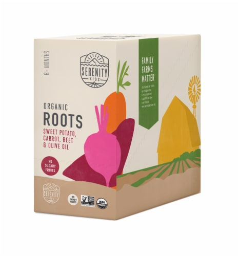 Serenity Kids Organic Roots Baby Food Perspective: front
