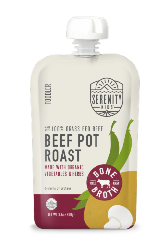 Serenity Kids Pouch Beef Pot Roast Baby Food Perspective: front