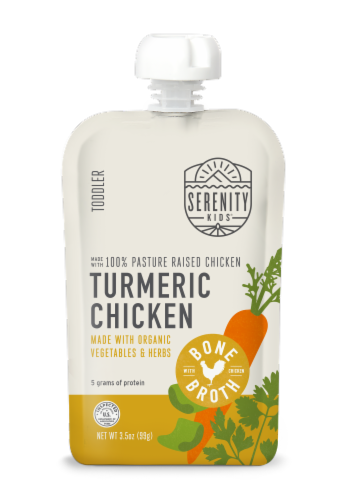 Serenity Kids Turmeric Chicken Pouch Baby Food Perspective: front