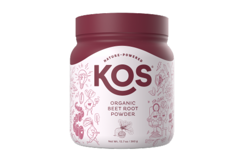 KOS Organic Beet Root Powder Perspective: front