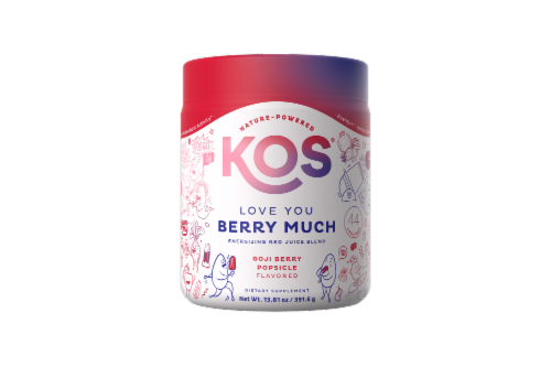 KOS Love You Berry Much-Red Juice Blend-Goji Berry Popsicle Flavor Perspective: front