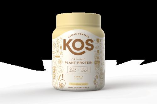 KOS Organic Vanilla Flavor Plant Protein Powder Perspective: front