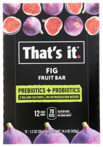 That's It Prebiotics + Probiotics Fig Fruit Bars Perspective: front