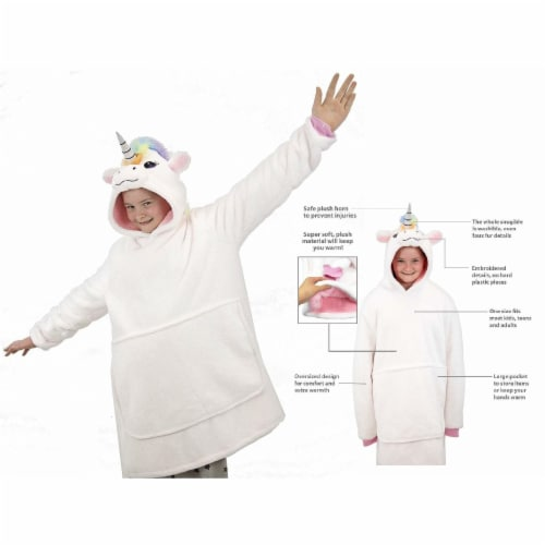 Plushible Poppy the Unicorn Hoodie Sweater Snugible Perspective: front