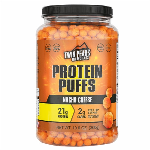 Twin Peaks Ingredients Nacho Cheese Protein Puffs Perspective: front