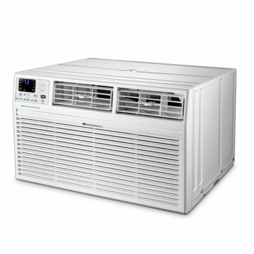 Emerson EATC12RSE1T 12000 BTU 115V SMART Through-the-Wall Air Conditioner with Remote Perspective: front