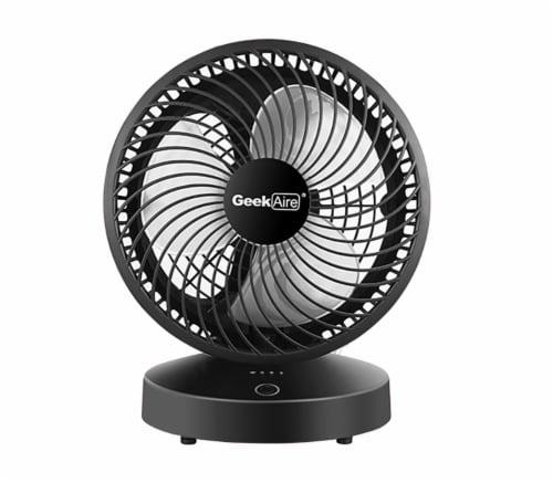 Geek Aire Smart Rechargeable Desktop Turbo Fan - Black Perspective: front