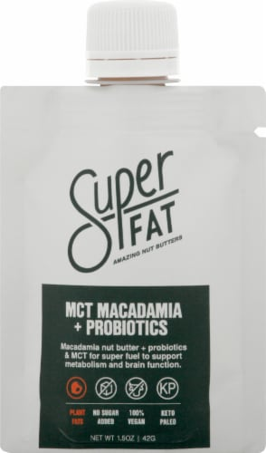 SuperFat Macadamia MCT+ Probiotics Perspective: front